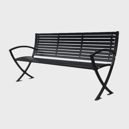 FS40 outdoor flat steel benches