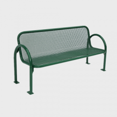 outdoor thermoplastic metal leisure bench
