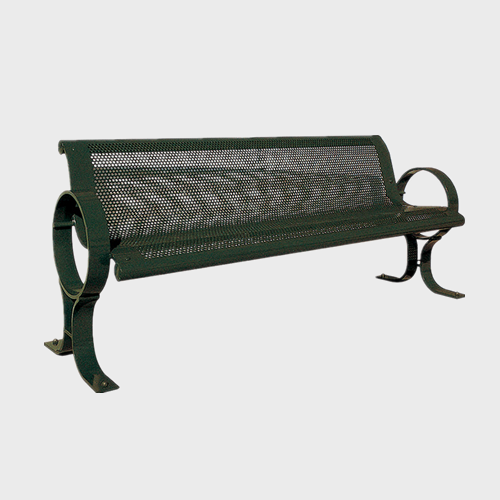 FS42 Outdoor Galvanized Metal Benches