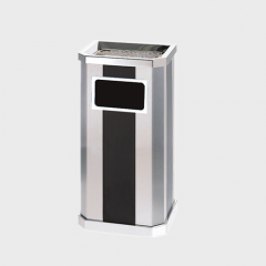 BS116 Hotel Lobby Stainless Steel Trash Can