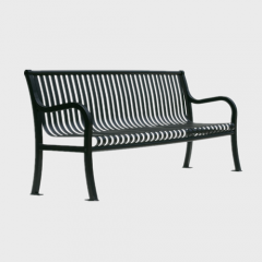FS58 outdoor garden furniture flat steel bench