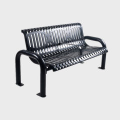 FS61 Outdoor Furniture street metal flat steel garden bench