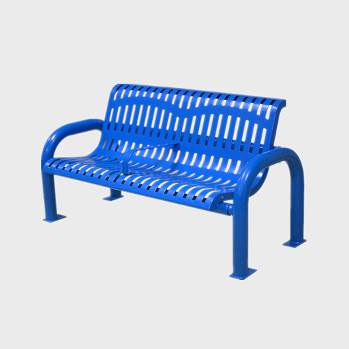 Outdoor Modern Metal Patio Bench