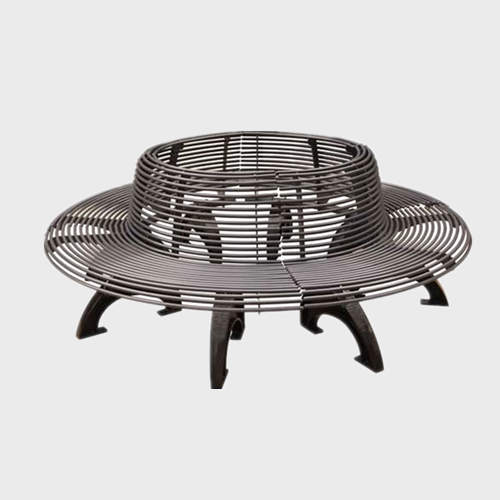 outdoor garden round tree bench
