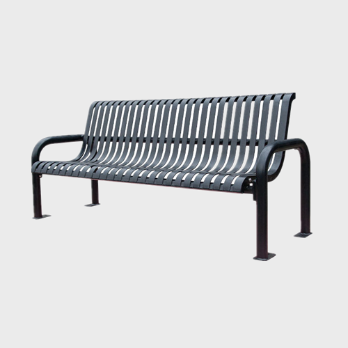 FS60 flat steel iron garden leisure bench