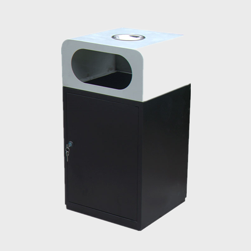 Outdoor street Metal dustbin square trash bin