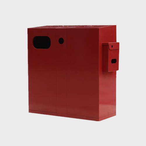 Outdoor metal dustbin waste container