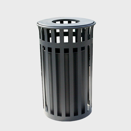 Outdoor Park Steel Metal Trash Bins recycling waste can