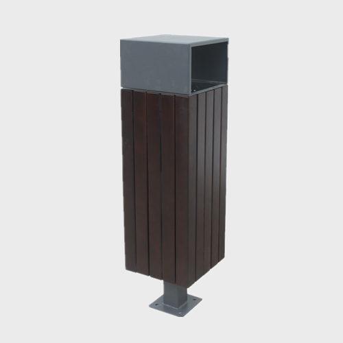 Decorative Wood Trash Cans street waste bin