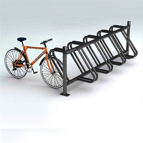 Outdoor steel bike parking stand bicycle rack