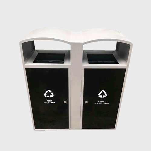 Classified metal dustbin outdoor stainless steel garbage bin
