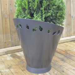 pot wholesale outdoor stainless steel flower planter