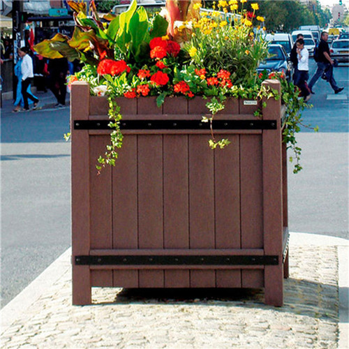 outdoor flower pots wholesale wood garden flower planter