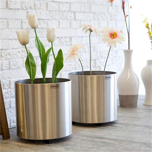 stainless steel flower pots wholesale flower planter