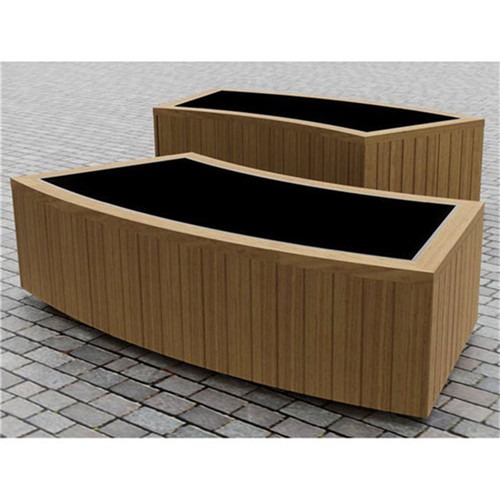 large garden wood pots outdoor street flower planter