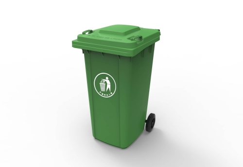 Outdoor Plastic trash bin street large garbage can