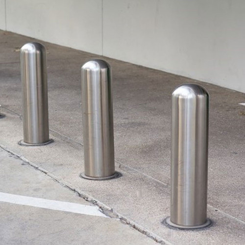 Outdoor road safety bollards and street barriers