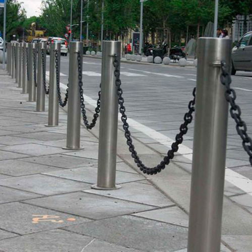 Outdoor road safety bollards and barriers
