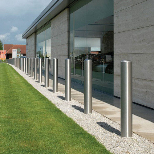 Stainless Steel parking roadblock bollard metal parking bollard