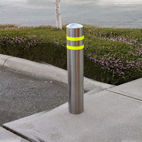 Stainless steel road safety barriers metal parking bollard