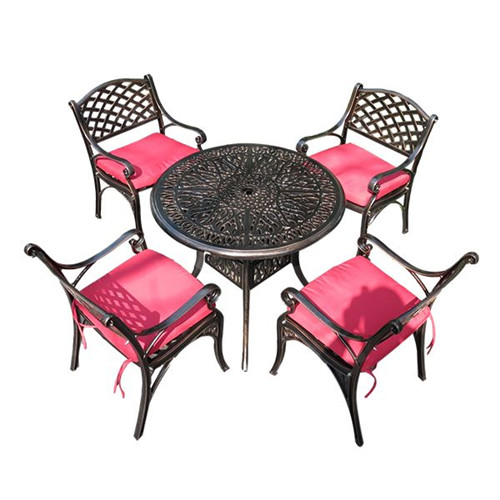 Sun-proof Anti-corrosion Iron Cast Aluminum Table And Chair