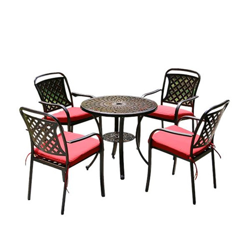 Leisure Cast Aluminum Tables And Chairs