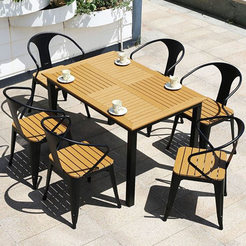 Leisure Outside Manufacture anticorrosive Wooden Table And Chair