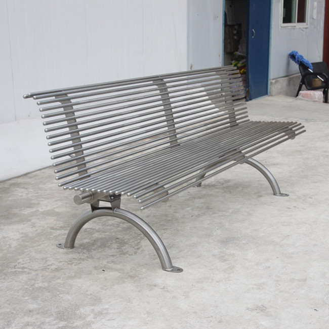 Stainless steel outdoor bench for Canada
