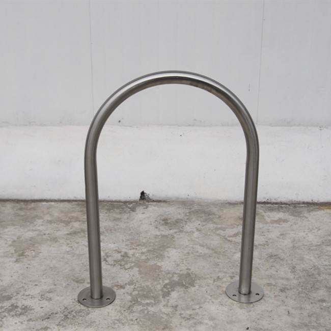 Outdoor road safety bollards and street bicycle parking rack for Australia