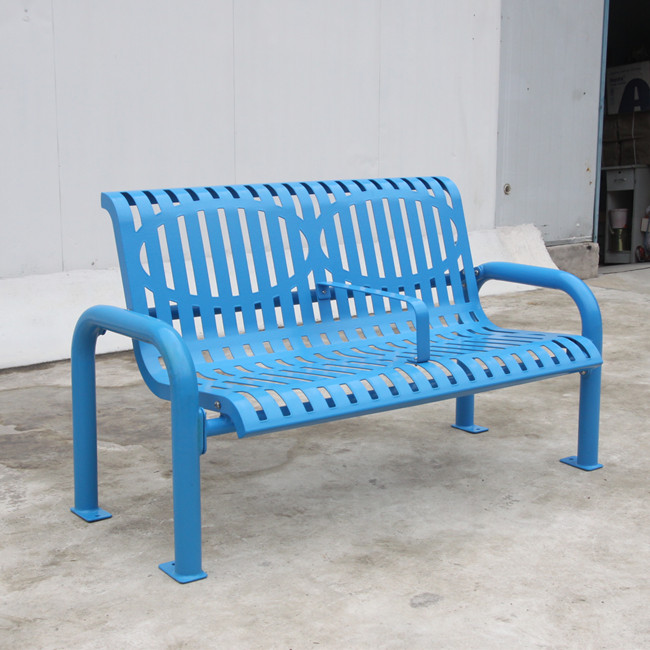 outdoor flat steel bench for Holland