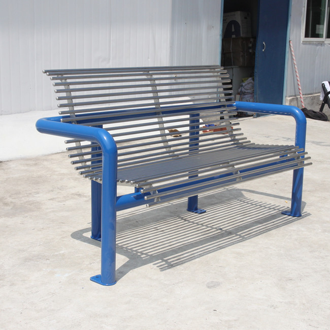 outdoor stainless steel pipe benches for Singapore