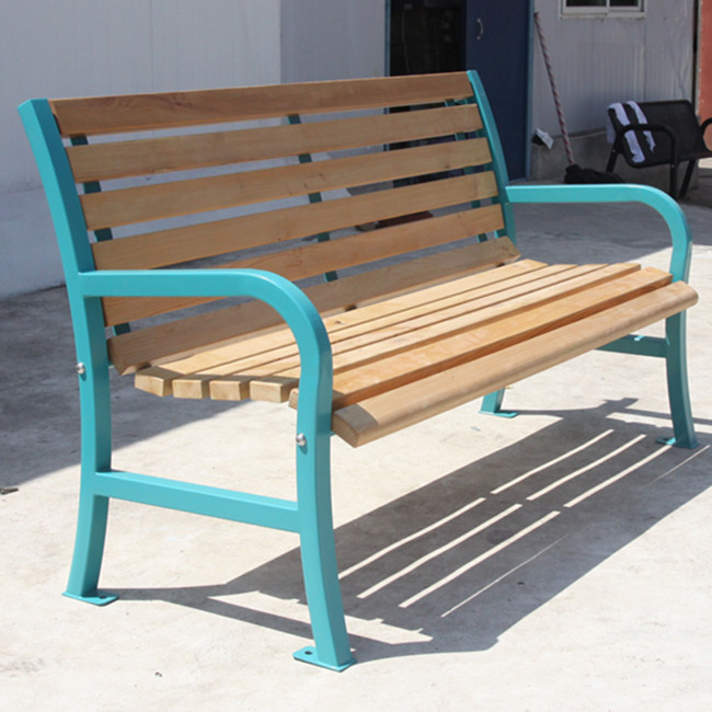 outdoor wood bench for French customer