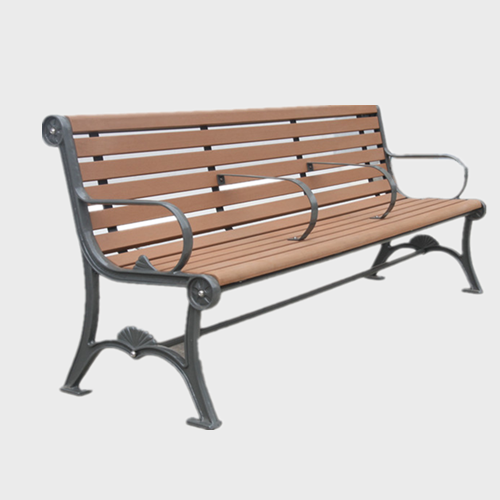 urban street outdoor wood bench seating