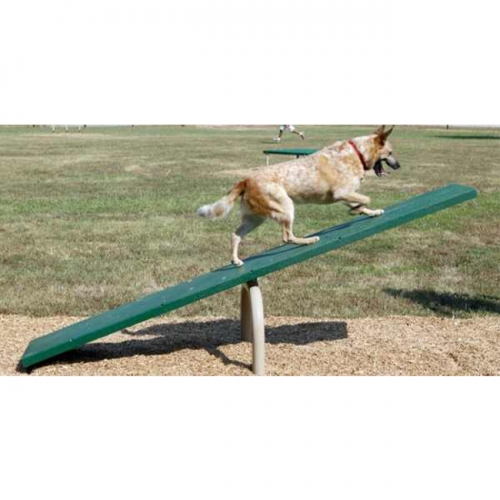 dog Seesaw walking training goggie playground agility training