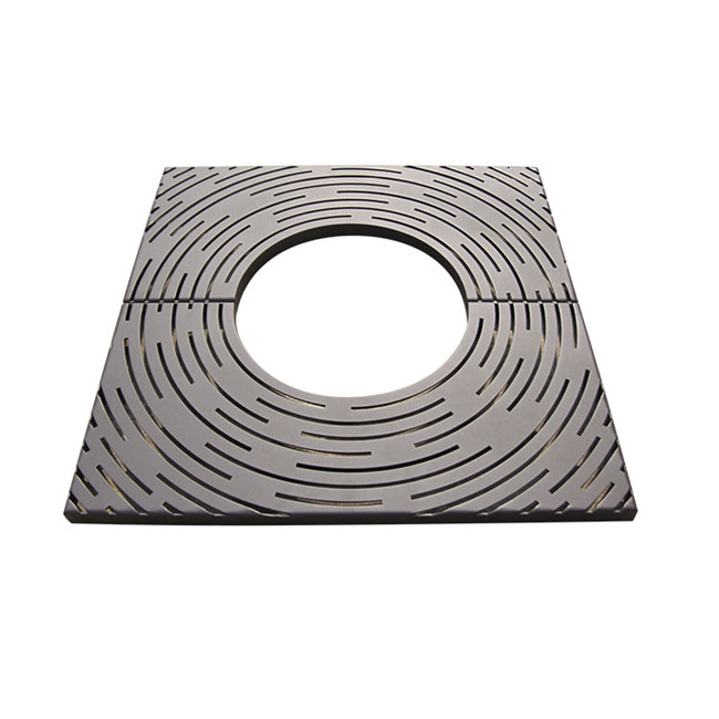 outdoor sidewalk metal square tree grate for customer