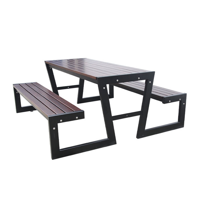 outdoor simple wood table and chair for customer