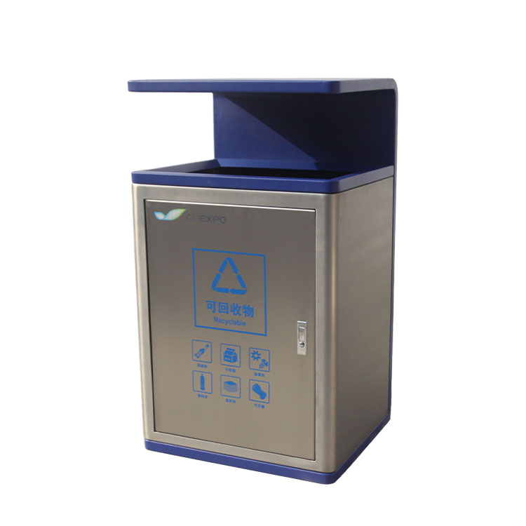 outdoor steel commercial large trash cans for customer