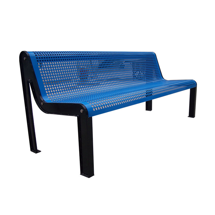 big custom made blue garden bench