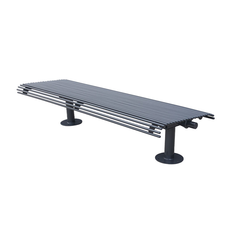 outdoor long backless benches for public