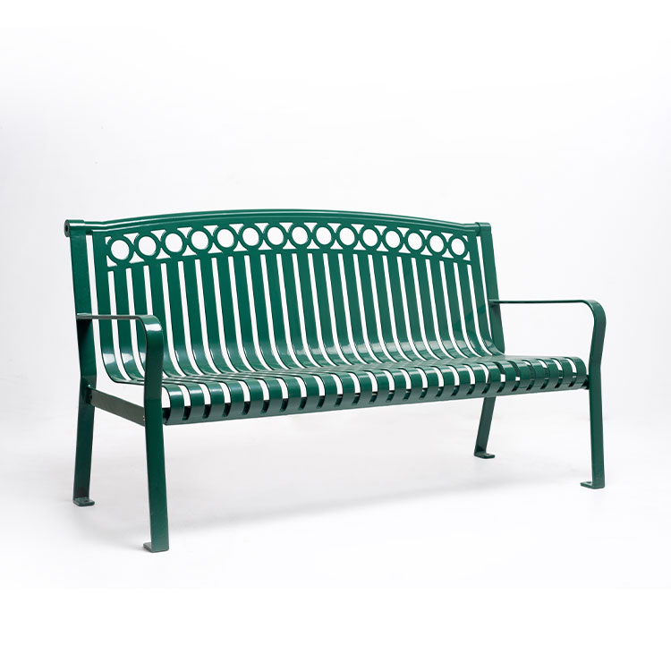 outdoor armrest 3-seater bench seat