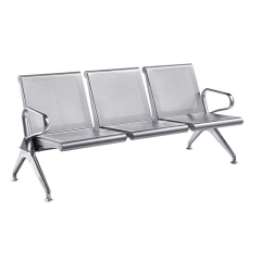 indoor heavy duty 3 seater metal bench