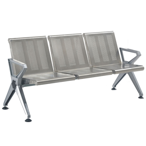 modern stainless steel indoor grey bench