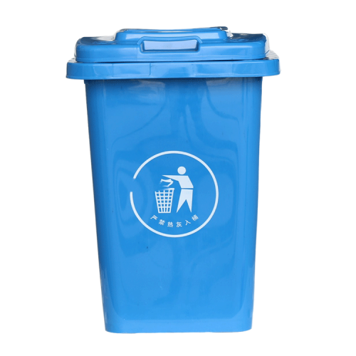 outdoor street large plastic waste bins