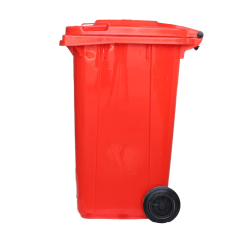 cheap and nice quality red plastic dustbin