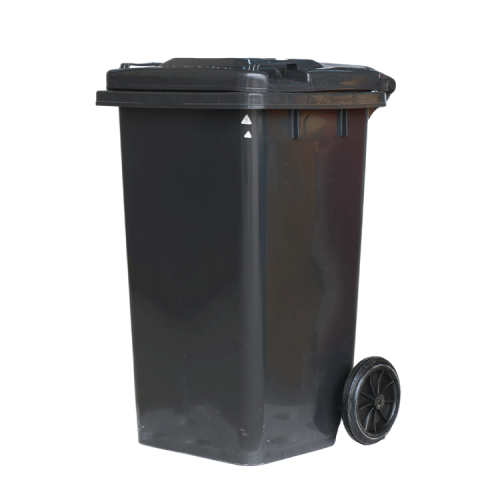 home and garden black garbage bin