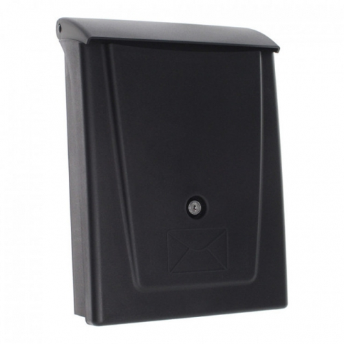 modern residential curbside black mailboxes