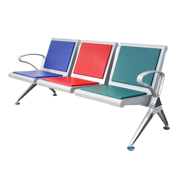 steel airport 4 seater waiting chair
