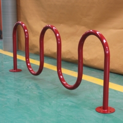 commercial outdoor freestanding metal bike racks