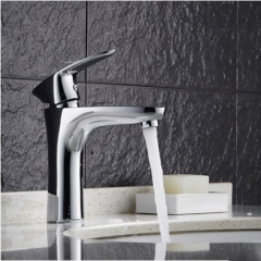 GuoJiangLong-L006 Polished Chrome Single Hole Bathroom Faucet without Pb Cold Hot Water Bathroom Faucets Free Shipping