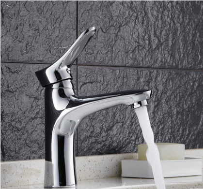 GuoJiangLong L011 Polished Chrome Single Hole Bathroom Faucet Bathroom Sink Faucets Without Pb Lifetime Warranty